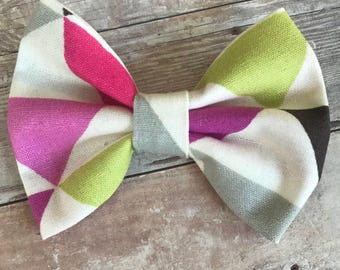 Color Block Baby Bow - Alligator Clip or Headband - Baby Gift - Toddler headband