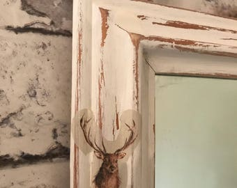 Shabby Chic Mirror Deer/Stag