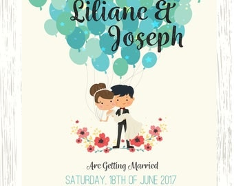 Wedding Save the Date Balloons