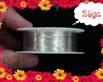 26ga 150ft Silver Wrap Wire, Silver Wrapping wire, Silver Beading wire, Silver Jewelry Wire,