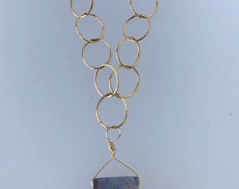 Necklace Gold Opal