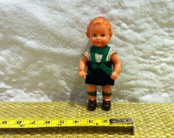 Cute Antique Doll miniature celluloid costume, doll Dollhouse