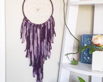 dreamcatcher, dream catcher, nursery baby dreamcatcher, personalized gift, personalized baby shower gift, large purple lavender dreamcatcher