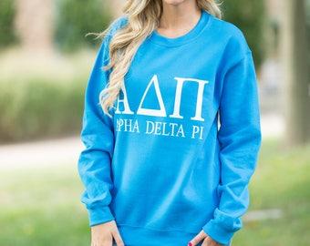 Alpha Delta Pi Sweatshirt..ADPi Sweatshirt..Oversized Sorority Sweatshirt..Little Sister Gift..Senior Gift..Homecoming Sweatshirt