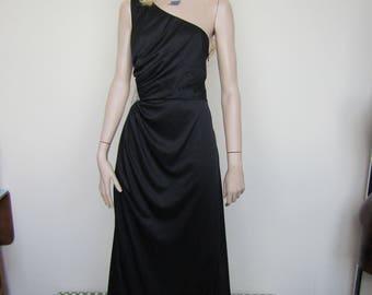 Black vintage evening dress - size 12/14