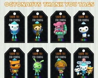 Octonauts Thank You Tags, Octonauts Birthday Favor Tags, Octonauts Party Tags, Octonauts Favor Tag, Octonauts Thank You Printables