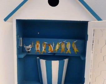 Rustic Shabby Chic Key Box with a fun Bird Theme