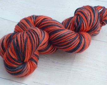 Moulin Rouge 100g DK Red & Charcoal yarn nylon wool double knit yarn knitting crochet hand dyed gift