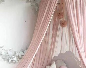 Kids CanopyBed Canopy | Hanging Play TenNursery Decor | 100% Cotton & Bed canopy | Etsy