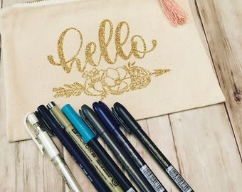 Brush Pen and Pencil Bag GIFT SET