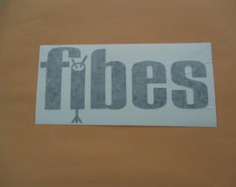 FIBES Drums Vinyl Sticker in Black