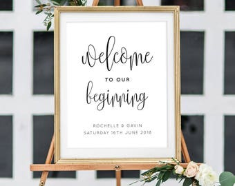 Printable Wedding Sign/ Welcome/ Wedding Sign/ Wedding Printable/ Signage/ PDF/ Download/ Rochelle suite #050-05
