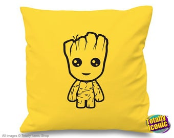 Baby Groot - Yellow Pillow/Cushion Cover - Baby Groot - Guardians of the Galaxy -