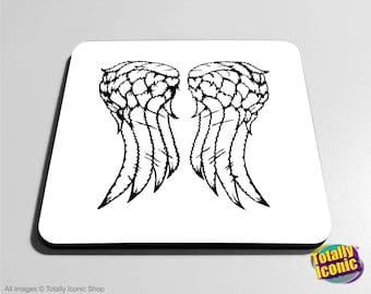 Supernatural Angel Wings - TV Series Drinks Mat/Bar Coasters - Castiel - Bobby - Dean & Sam Winchester