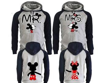 Mickey Minnie Couple Hoodies, Couple Hoodies, Disney Couple Hoodies, Pärchen Pullover Couple Hoodies Mickey, Couple Hoodies King And Queen