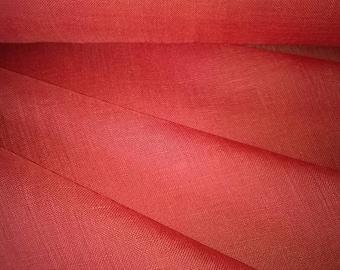 LINEN VOILE Orange carnelian width 160cm