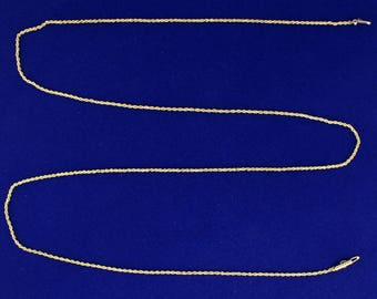 28 1/4 Inch Rope Style Neck Chain in 14k Gold