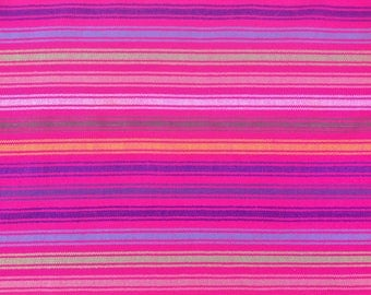 Mexican Fabric Pink and Stripes Cambaya Serape Ethnic Zarape Colorful Stripes By the Yard