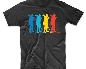 Coinshooter Retro Pop Art Metal Detecting Graphic T-Shirt