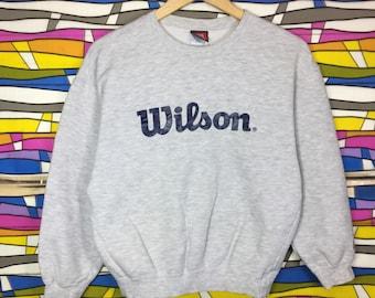 Rare!! Vintage WILSON Spellout Big Logo Sweatshirt