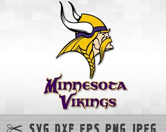 Minnesota Vikings SVG PNG DXF Logo Vector Cut File Silhouette Studio Cameo Cricut Design Template Stencil Vinyl Decal Heat Transfer Iron on