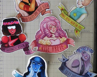 Steven Universe Crystal Gem Stickers