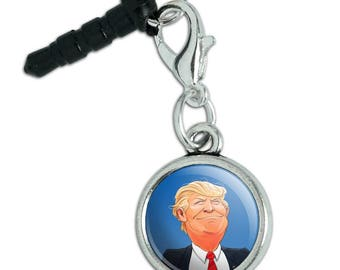 Happy Donald Trump Make America Great Mobile Cell Phone Headphone Jack Anti-Dust Charm fits iPhone iPod Galaxy