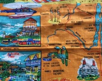 Retro Gold Coast Tea Towel