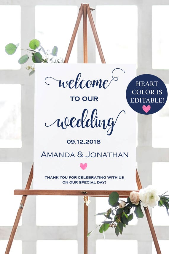 Welcome Wedding Sign - Welcome To Our - Wedding Sign - Wedding ...