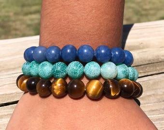 Worldly Elements-Stone Bracelets
