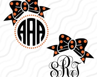 Halloween Bow SVG, Bow Monogram SVG,Halloween svg, Bow SVG Cut table Design,svg,dxf,png Use With Silhouette Studio & Cricut_Instant Download