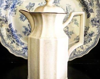Vintage Staffordshire Kensigton Coffee Pot ~ English Staffordshire Ironstone