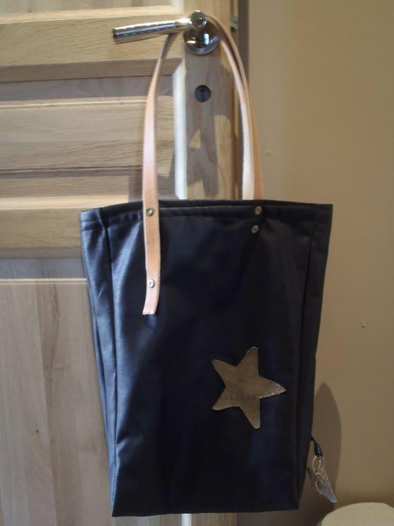 Hand bag, spirit Brown distressed leather