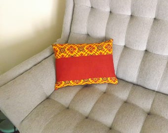 Red & Spires Pillow Cover