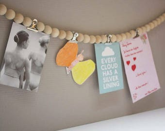Living chain/necklace/Garland/beads wood beads/Wooden/decoration/Cards pendulum Live