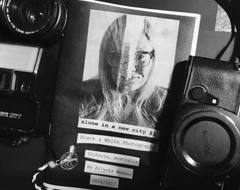 B&W Photography Zine - Alone in a new city #2