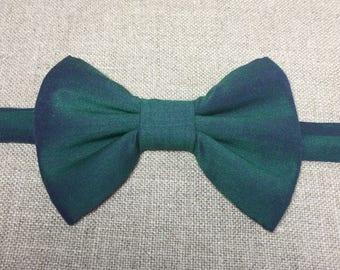 SILK BOW TIE, green silk bow tie.