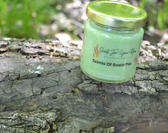 4 oz Sweet Pea Scented Candle