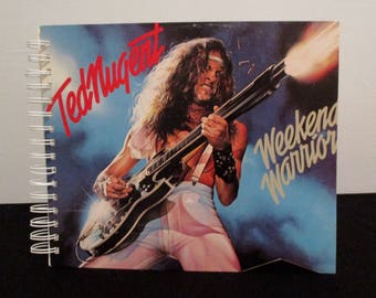 Recycled vinyl album cover notebook - Ted Nugent!