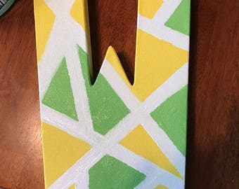 Customizable Abstract Letter Canvas Painting