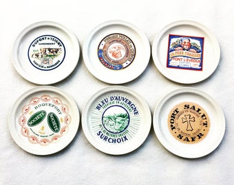 French Cheese Plates France Advertising of the Brands 6 Plates Saint-Amand 1950s Vintage French cheese plates, Gift for Him Gift for Her