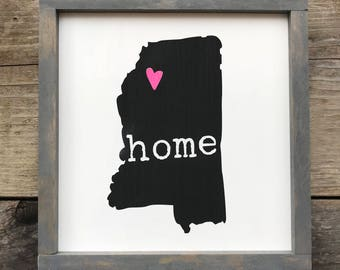 Home State Sign 11x11 or 14x8