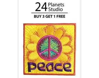 Peace Iron on Patch by 24PlanetsStudio