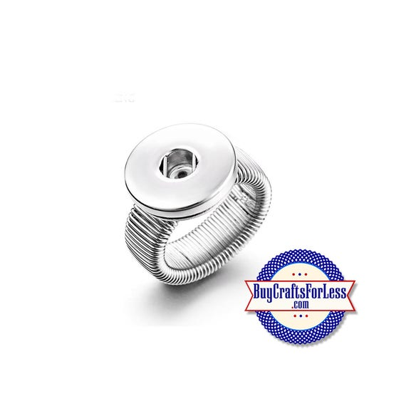 SNAP Button, 18mm STRETCH RiNG for Interchangeable Snap Buttons  +FREE Shipping & Discounts