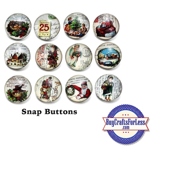 SNAP CHRiSTMAS Buttons, 18mm INTERCHaNGABLE Buttons, 12 designs +FREE Shipping & Discounts