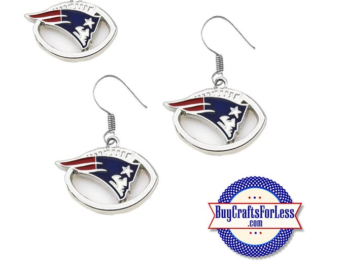 New ENGLAND Football EARRINGS - Super CUTE!  +FReE SHiPPiNG & Discounts*