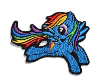 Rainbow Dash Embroidered Applique, My Little Pony Rainbow Dash Iron On Patch, My Little Pony Applique Embroidered, Sew on patches