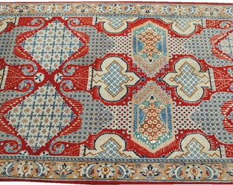 carpet Ghom fine red red size 126cmx80cm, carpet, rug precious