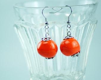 Ceramic bead earrings