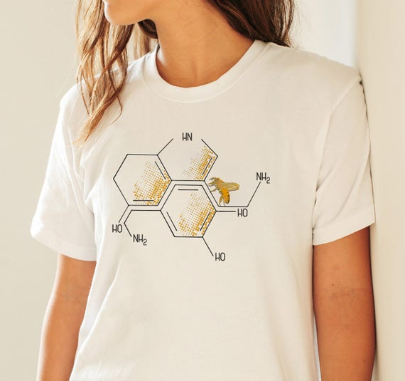 Nectar of life | Serotonin and dopamine chemical formulas | Unisex T-shirt | Men / Women apparel | Personalized T-shirt | Graphic Tee |
